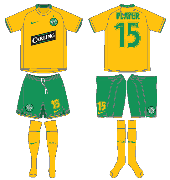 Celtic FC Uniform Road Uniform (2008/09) -  SportsLogos.Net
