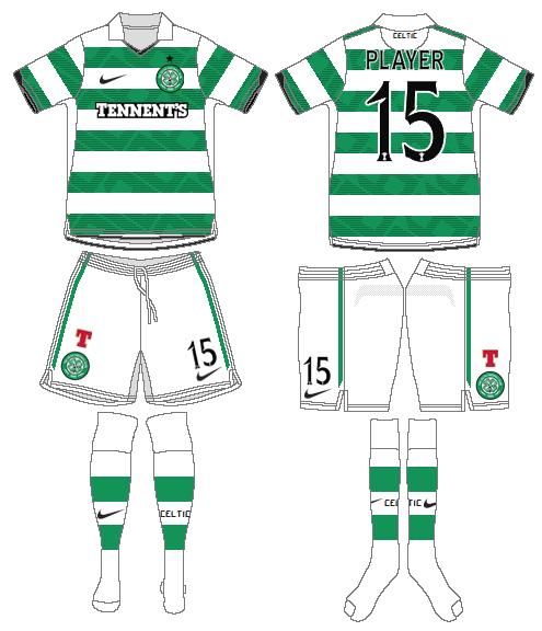 Celtic FC Uniform Home Uniform (2010/11-2011/12) -  SportsLogos.Net