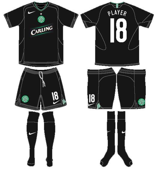 Celtic FC Uniform Alternate Uniform (2005/06) - UEFA Third Kit SportsLogos.Net