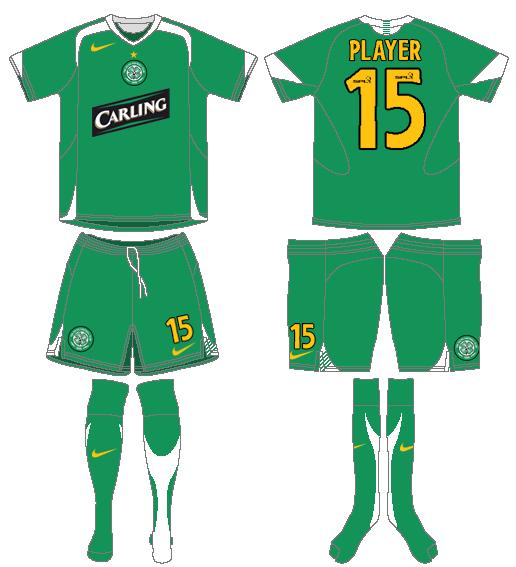 Celtic FC Uniform Road Uniform (2005/06) -  SportsLogos.Net