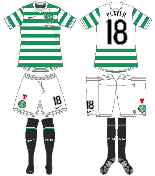 Celtic FC Uniform Home Uniform (2012/13) - UEFA Home Kit SportsLogos.Net