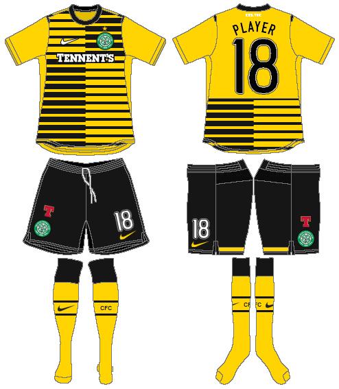 Celtic FC Uniform Alternate Uniform (2011/12) - UEFA Third Kit SportsLogos.Net