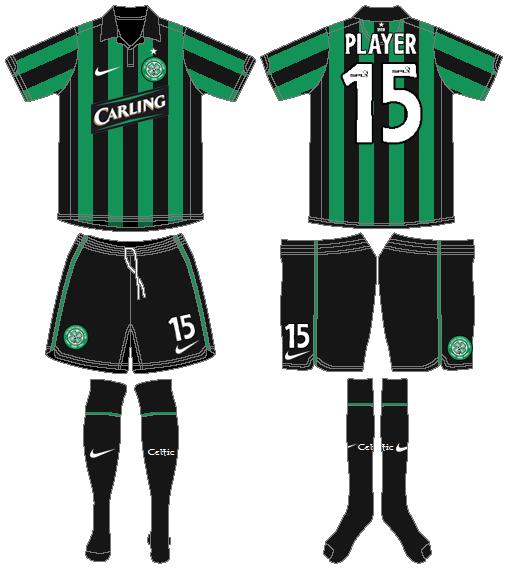 Celtic FC Uniform Road Uniform (2006/07) -  SportsLogos.Net