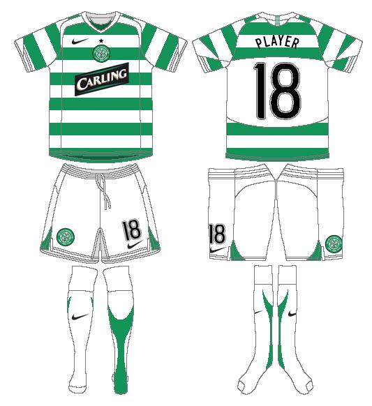 Celtic FC Uniform Home Uniform (2006/07) - UEFA Home Kit SportsLogos.Net