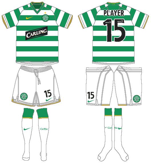 Celtic FC Uniform Home Uniform (2008/09-2009/10) -  SportsLogos.Net