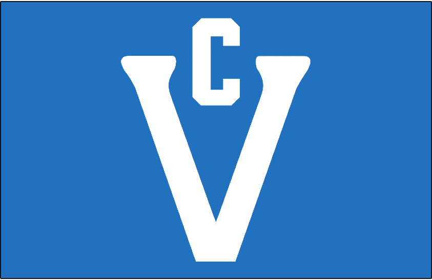 Victoria  Cougars   Logo Jersey Logo (1923/24) - Large white V with smaller C above it on blue, worn on Victoria Cougars jerseys SportsLogos.Net