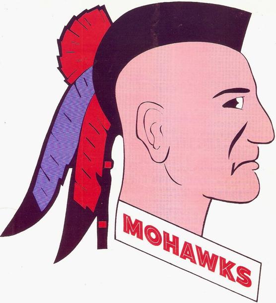 Muskegon  Mohawks Logo Primary Logo (1965/66-1976/77) -  SportsLogos.Net