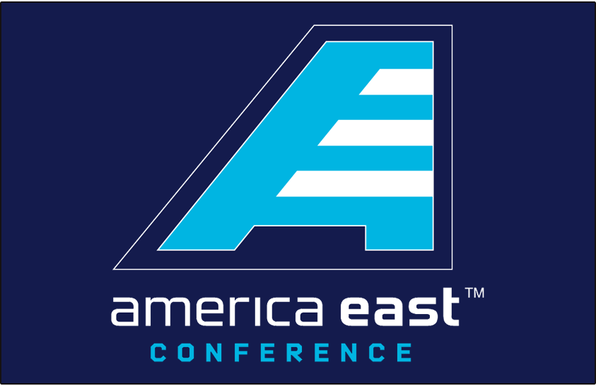 America East Conference Logo Primary Dark Logo (2013-Pres) - America East Conference logo on navy blue SportsLogos.Net