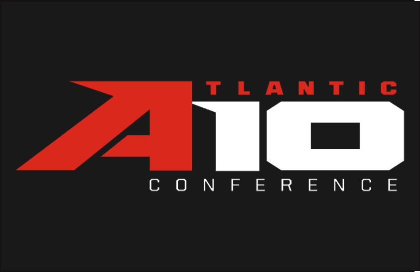 Atlantic 10 Conference Logo Primary Dark Logo (2014-Pres) - Atlantic 10 logo on black SportsLogos.Net