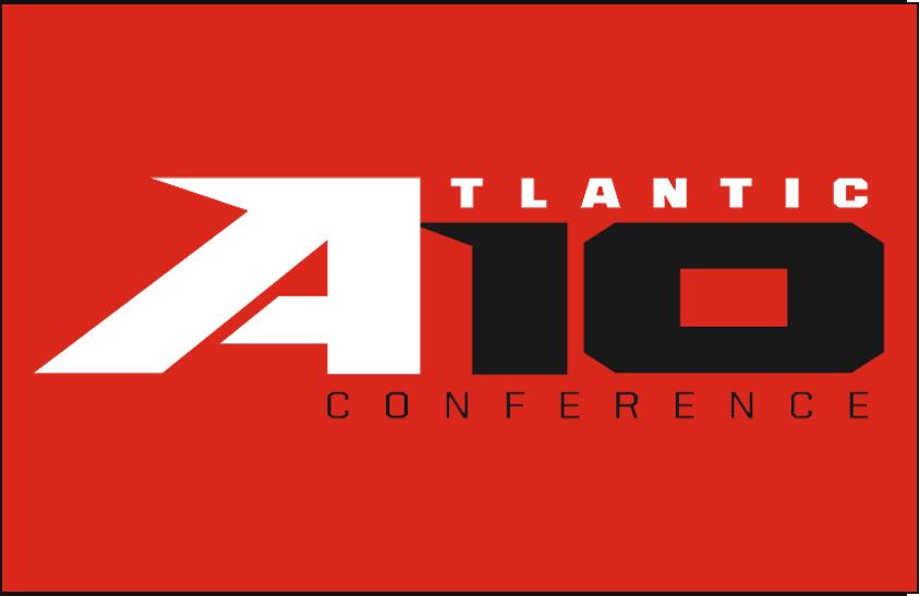 Atlantic 10 Conference Logo Primary Dark Logo (2014-Pres) - Atlantic 10 logo on red SportsLogos.Net