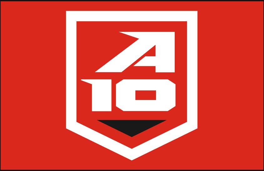 Atlantic 10 Conference Logo Alternate Logo (2014-Pres) - Atlantic 10 alternate shield logo on red SportsLogos.Net
