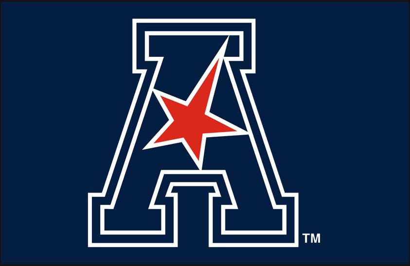 American Athletic Conference Logo Primary Dark Logo (2017-Pres) - AAC logo on blue SportsLogos.Net