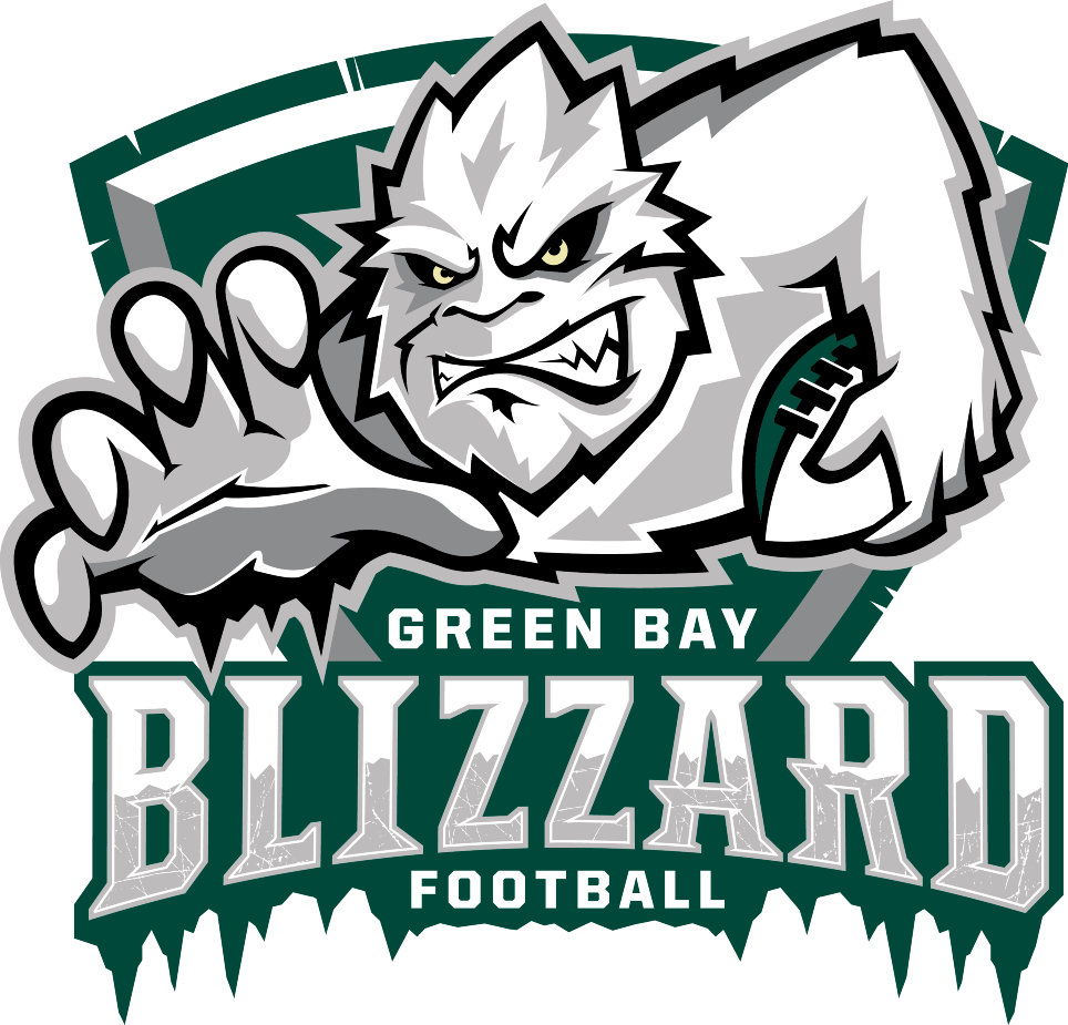 Green Bay Blizzard Primary Logo Indoor Football League Ifl