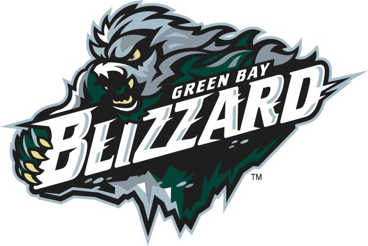 Green Bay Blizzard Logo Primary Logo (2010-2014) -  SportsLogos.Net