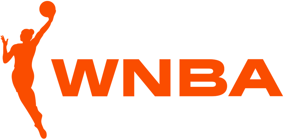 WNBA Logo Primary Logo (2020-Pres) - Basketball player in