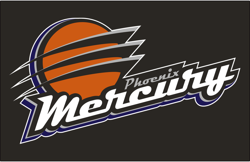 phoenix mercury primary on dark logo women s national basketball rh sportslogos net phoenix mercury logo png Indiana Fever Logo