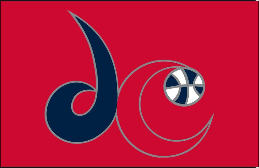 Washington Mystics Logo Alt on Dark Logo (2011-Pres) - Alternate on red SportsLogos.Net