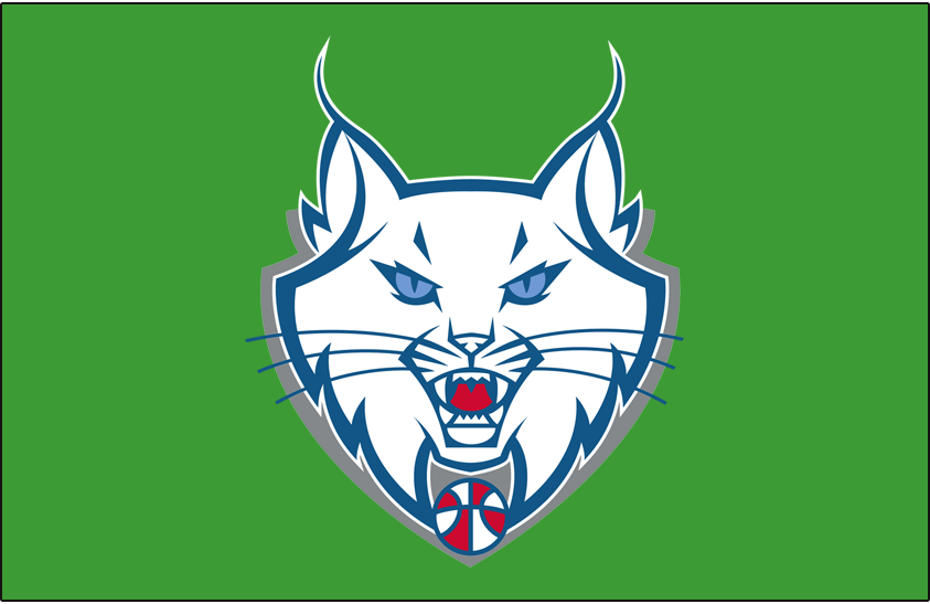 Minnesota Lynx Logo Alt on Dark Logo (2011-2017) - Partial on green SportsLogos.Net