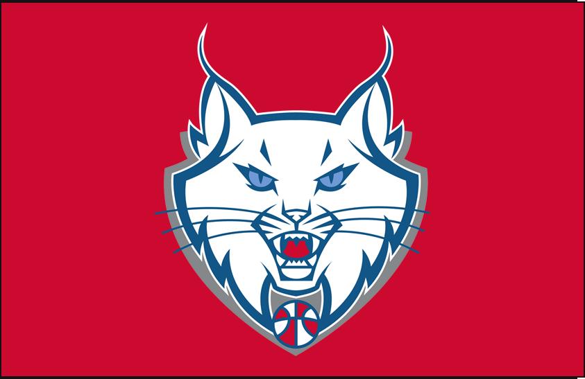 Minnesota Lynx Logo Alt on Dark Logo (2011-2017) - Partial on red SportsLogos.Net