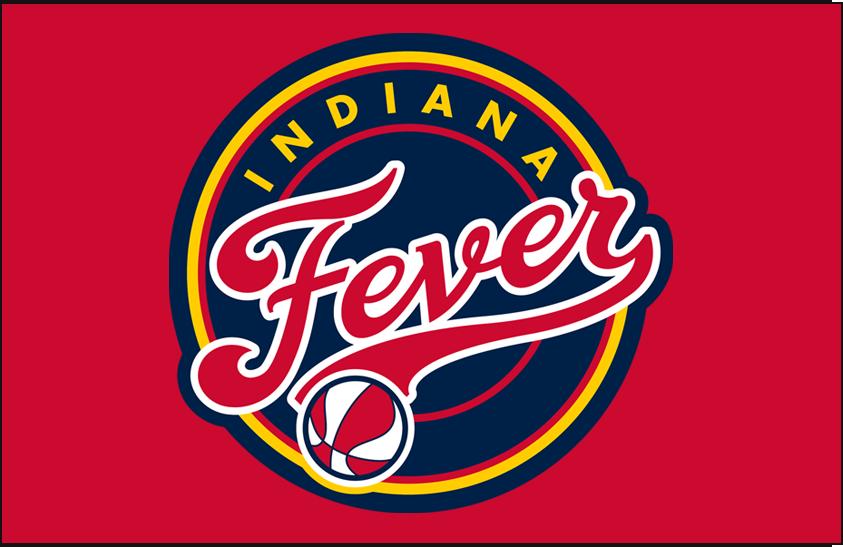 Indiana Fever Logo Primary Dark Logo (2000-Pres) - Primary on Red SportsLogos.Net