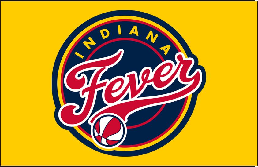 Indiana Fever Logo Primary Dark Logo (2000-Pres) - Primary on Yellow SportsLogos.Net