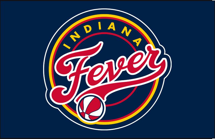 Indiana Fever Logo Primary Dark Logo (2000-Pres) - Primary on Blue SportsLogos.Net