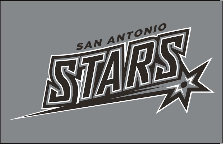 San Antonio Stars Logo Primary Dark Logo (2014-2017) - Primary on Silver SportsLogos.Net