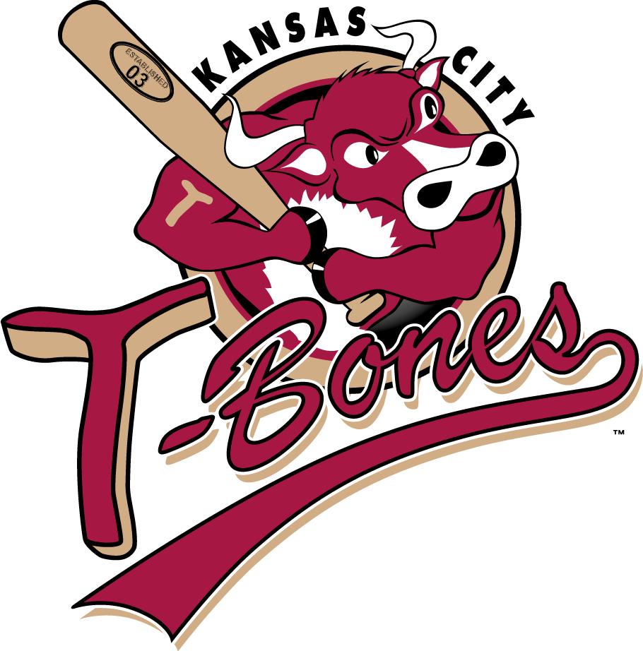 Kansas City T-Bones Logo Primary Logo (2011-2020) -  SportsLogos.Net
