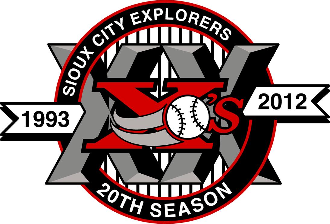 Sioux City Explorers Logo Anniversary Logo (2012) -  SportsLogos.Net