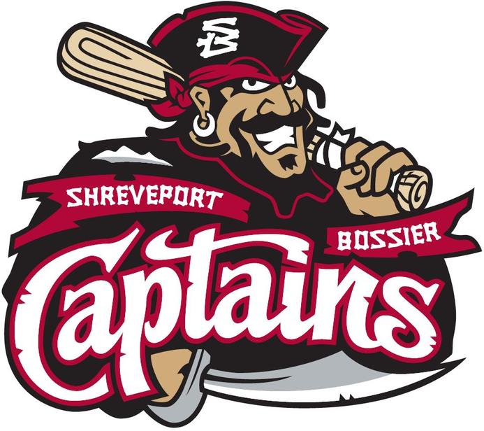 Shreveport-Bossier Captains Logo Primary Logo (2009-2011) -  SportsLogos.Net