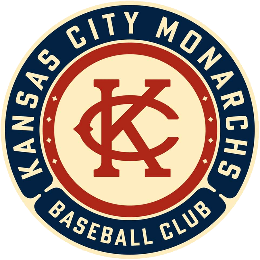 Kansas City Monarchs Logo Primary Logo (2021-Pres) - The 2021 edition of the Kansas City Monarchs used a logo featuring the classic KC monogram in brick red on a beige circle, the team name surrounds the logo on blue. Kansas City Monarchs was the name long used by the areas Negro Leagues team. SportsLogos.Net