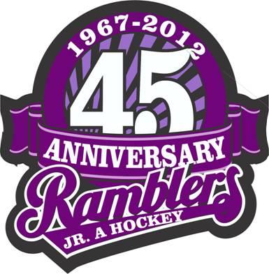 Amherst Ramblers Logo Anniversary Logo (2011/12) - 45th Anniversary logo SportsLogos.Net
