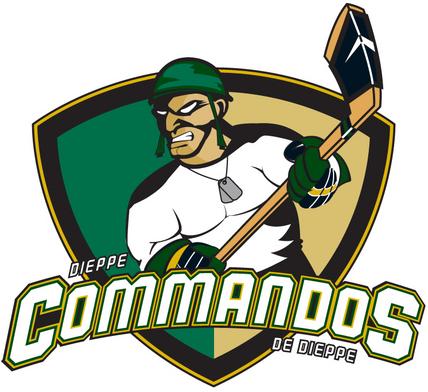 Dieppe  Commandos Logo Primary Logo (2008/09-Pres) -  SportsLogos.Net
