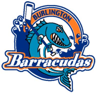 Burlington  Barracudas Logo Primary Logo (2007/08-2011/12) -  SportsLogos.Net