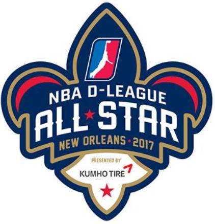 NBA D-League All-Star Game Logo Primary Logo (2016/17) - 2017 NBA D-League All-Star Game - New Orleans SportsLogos.Net
