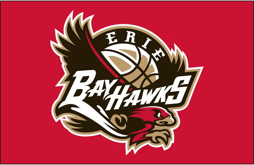 Erie BayHawks Logo Primary Dark Logo (2007/08-2016/17) -  SportsLogos.Net