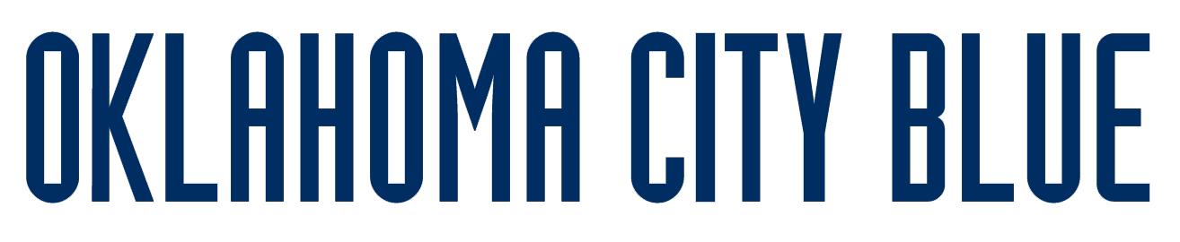 Oklahoma City Blue Logo Wordmark Logo (2014/15-Pres) -  SportsLogos.Net