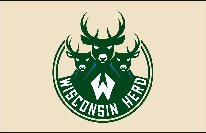 Wisconsin Herd Logo Primary Dark Logo (2017/18-Pres) -  SportsLogos.Net