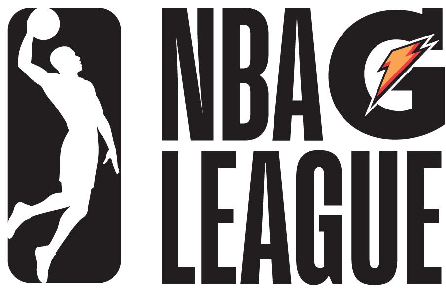 NBA G-League Logo Alternate Logo (2017/18-Pres) - NBA G League stacked to the right of the league silhouette  SportsLogos.Net
