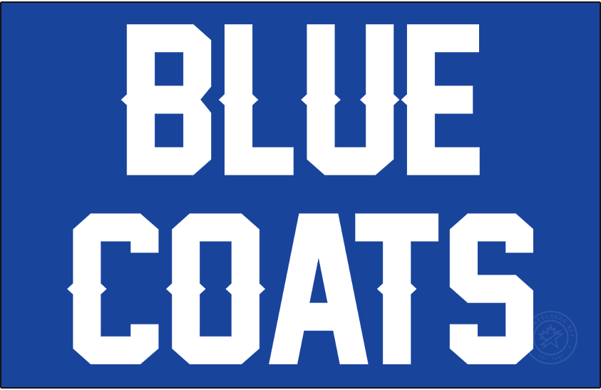 Delaware Blue Coats Logo Primary Dark Logo (2020/21-Pres) - For the 2020-21 G-League season, the Delaware Blue Coats dropped their previous primary logo of a blue coat riding a horse and replaced it with simply their wordmark logo - BLUE COATS in stacked blue uppercase lettering. SportsLogos.Net