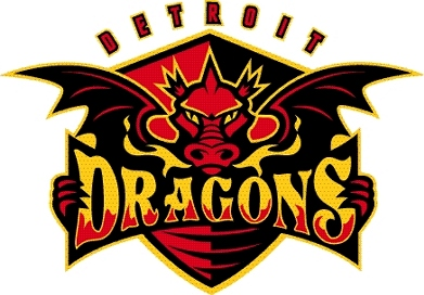 Detroit Dragons Logo Primary Logo (2008/09) -  SportsLogos.Net