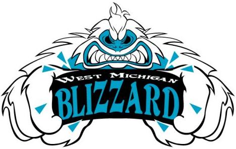 West Michigan Blizzard Logo Primary Logo (2009/10) -  SportsLogos.Net