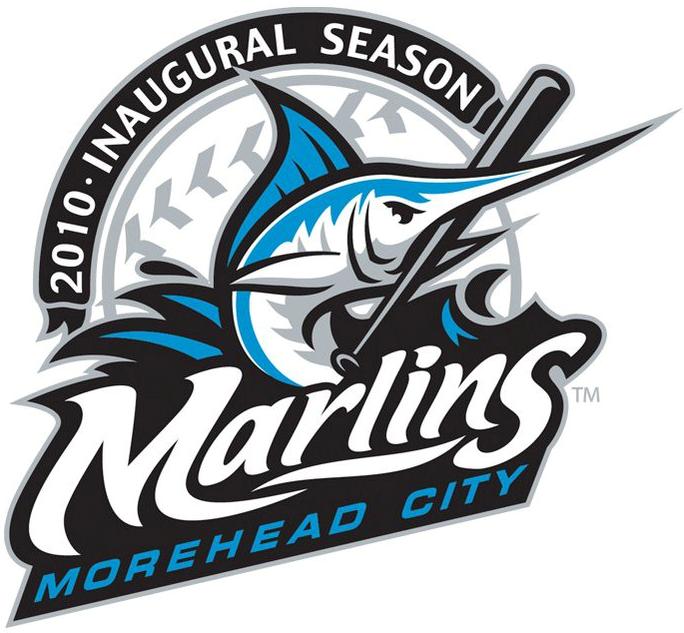 Morehead City Marlins Logo Anniversary Logo (2010) -  SportsLogos.Net