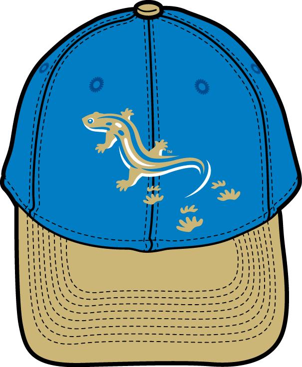 Holly Springs Salamanders Logo Cap Logo (2015-Pres) - Home cap and, blue Alt uniform 1 cap. SportsLogos.Net