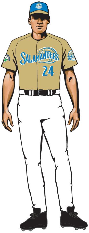Holly Springs Salamanders Uniform Alternate Uniform (2015-Pres) - Alternate uniform 2 SportsLogos.Net