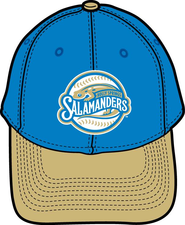 Holly Springs Salamanders Logo Cap Logo (2015-Pres) - Alternate uniform 2 cap SportsLogos.Net