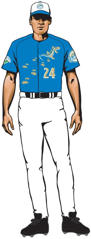Holly Springs Salamanders Uniform Alternate Uniform (2015-Pres) - Alternate uniform 3 SportsLogos.Net