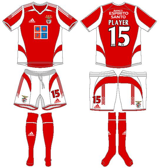 S.L. Benfica Uniform Home Uniform (2005-2006) -  SportsLogos.Net