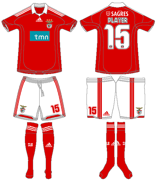 S.L. Benfica Uniform Home Uniform (2009-2010) -  SportsLogos.Net