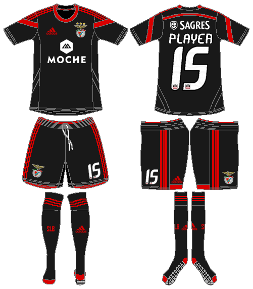 S.L. Benfica Uniform Road Uniform (2014-2015) -  SportsLogos.Net
